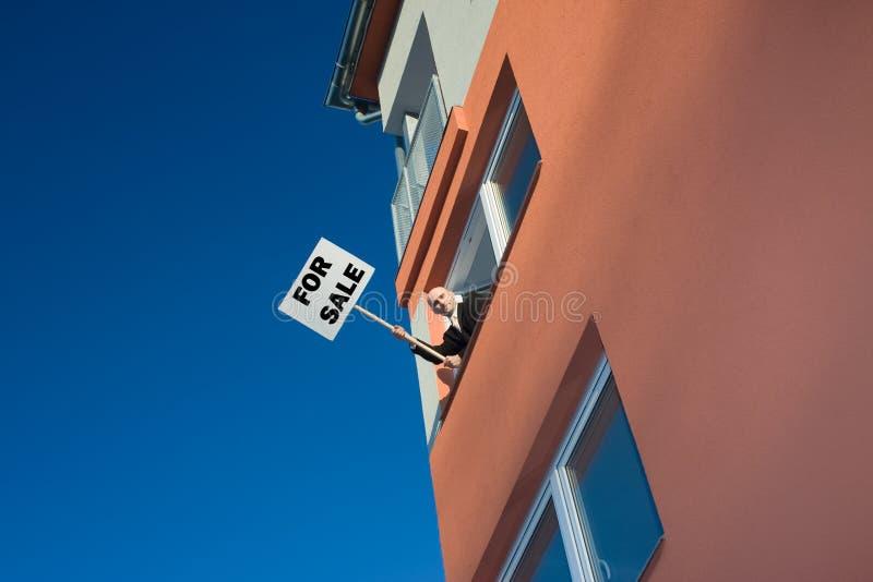 Agente imobiliário dinâmico imagens de stock