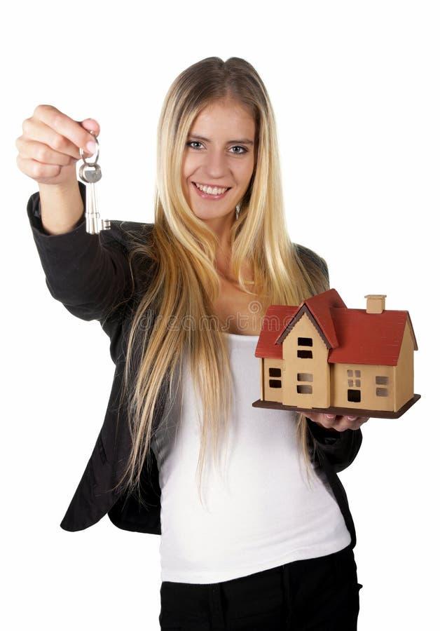 Agente imobiliário Woman Concept foto de stock