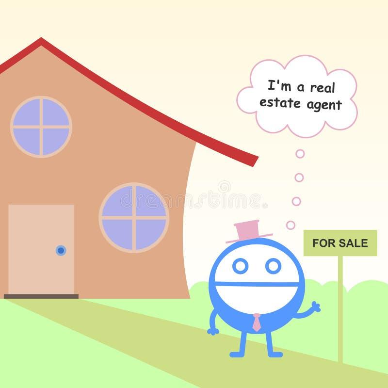 Agente inmobiliario ilustración del vector