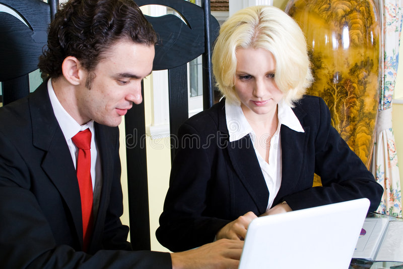 Agente inmobiliario fotos de archivo