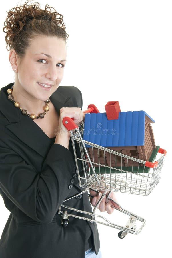 Agente inmobiliario de sexo femenino caucásico imagen de archivo libre de regalías