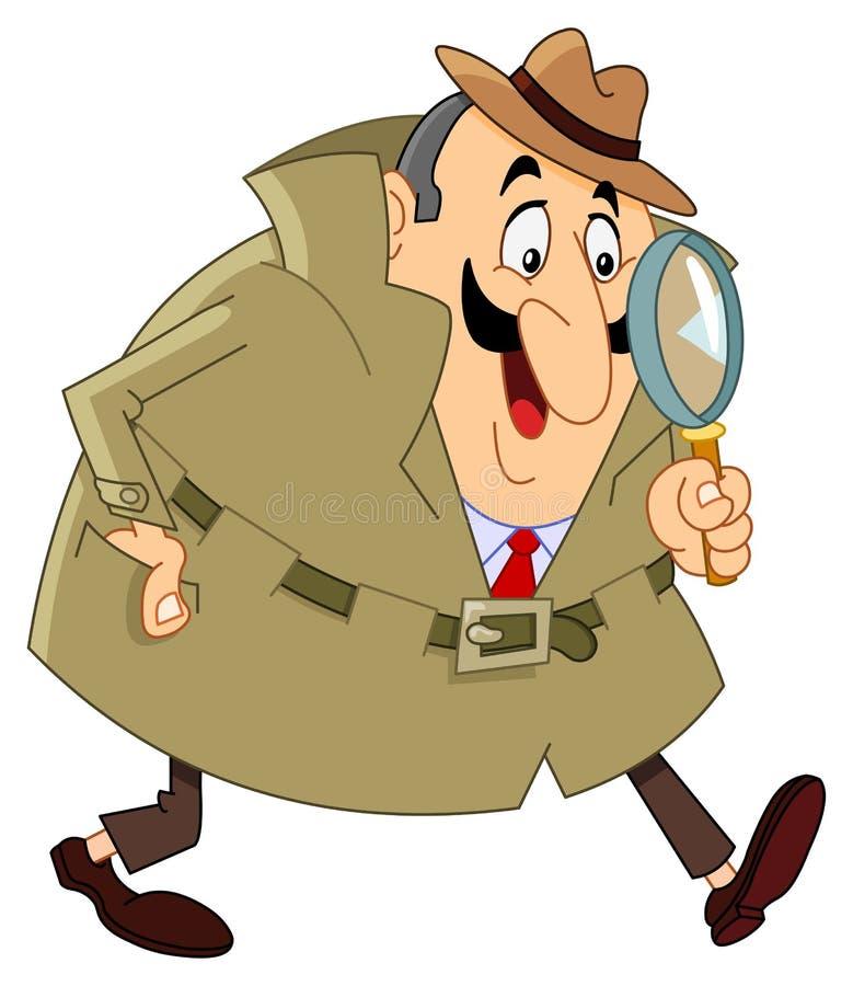 Agente investigativo illustrazione vettoriale