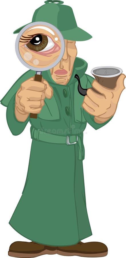 Agente investigativo illustrazione di stock