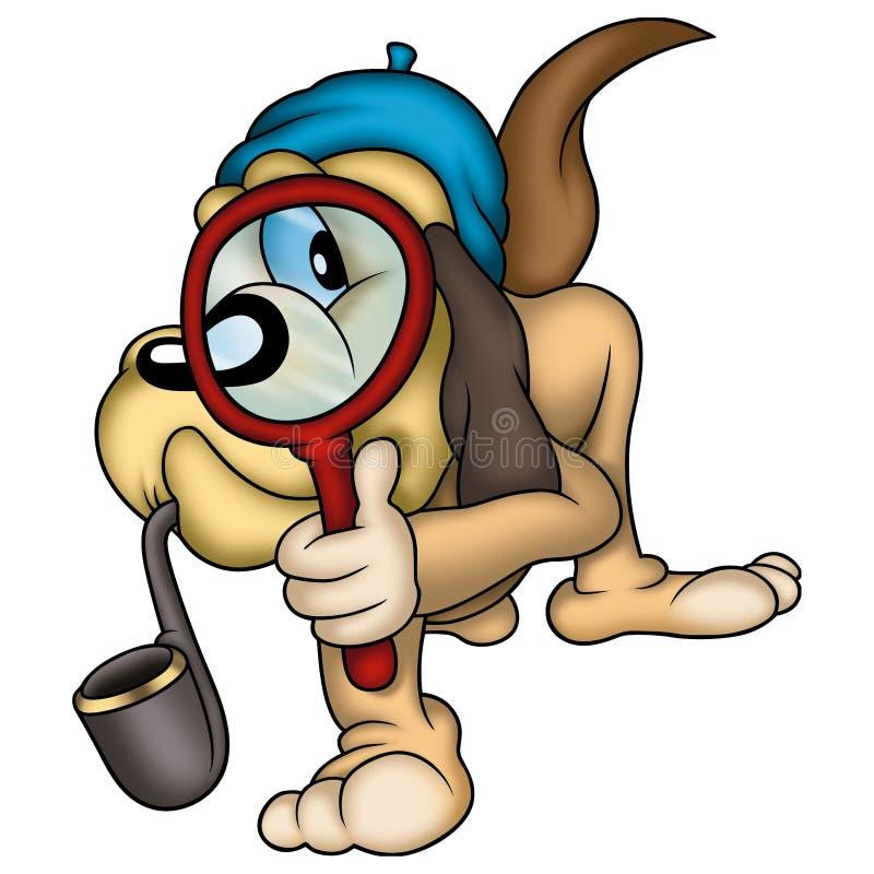 Agente investigativo del cane illustrazione vettoriale
