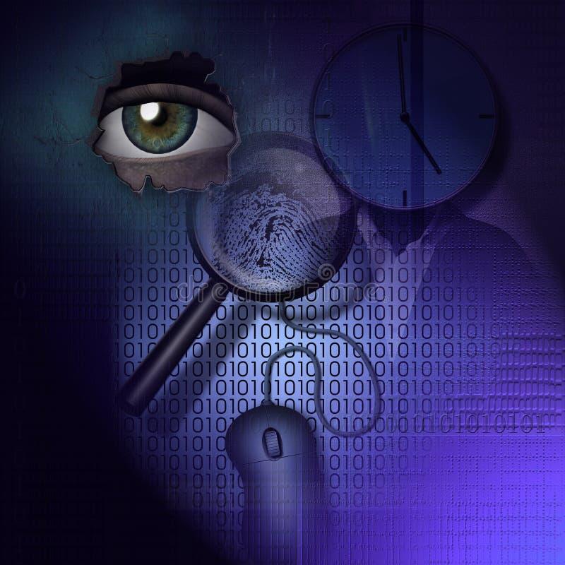 Agente investigativo di tecnologia illustrazione vettoriale