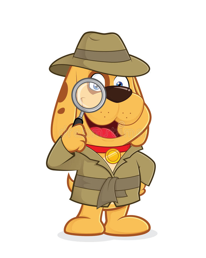 Agente investigativo Dog royalty illustrazione gratis