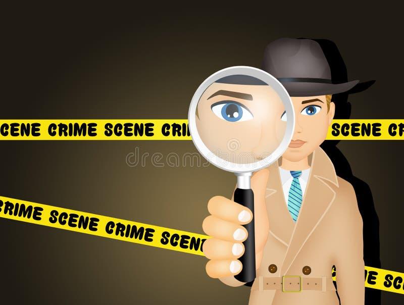Agente investigativo sulla scena del crimine royalty illustrazione gratis