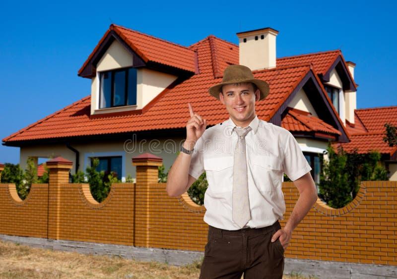 Agente Real-estate imagens de stock royalty free