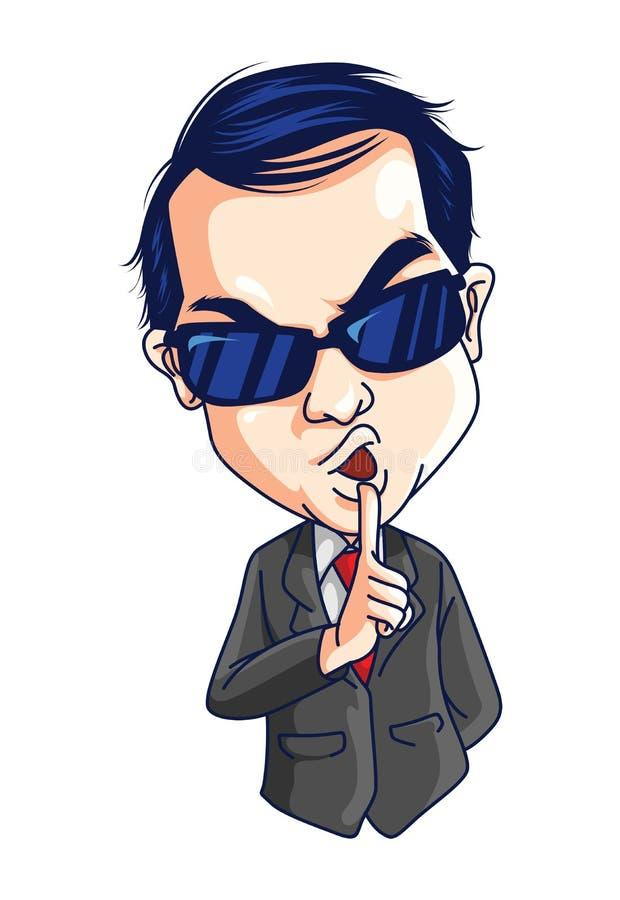 Agente secreto ilustración del vector