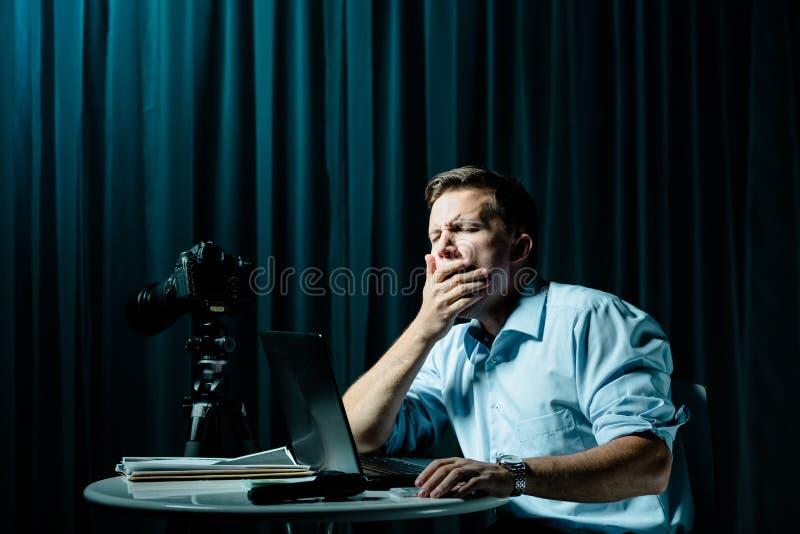 Agente secreto cansado foto de archivo libre de regalías