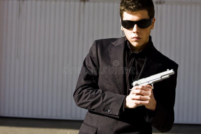 Agente secreto listo imagen de archivo libre de regalías