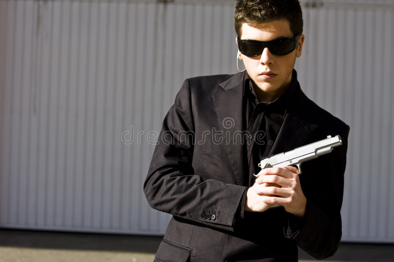 Agente secreto pronto imagem de stock royalty free