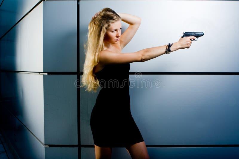 Agente segreto sexy fotografia stock libera da diritti