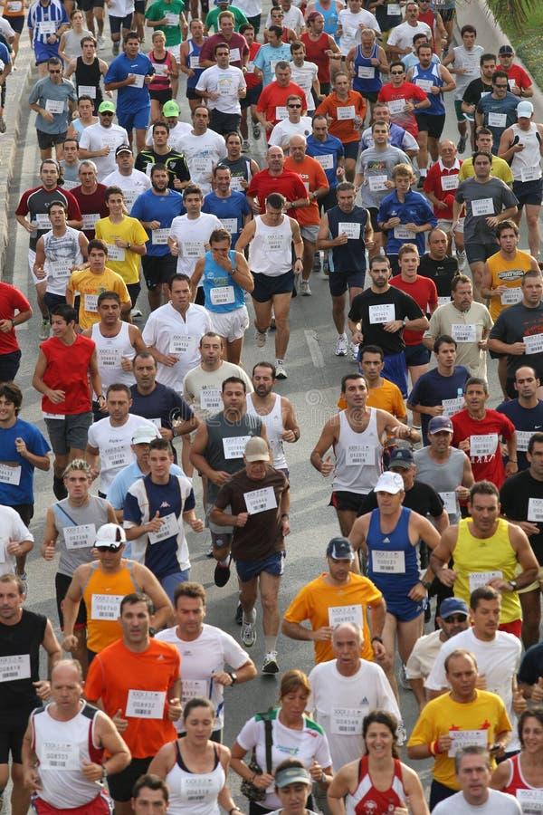 Agenten van de stad van het stedelijke ras 2007 van Malaga stock fotografie