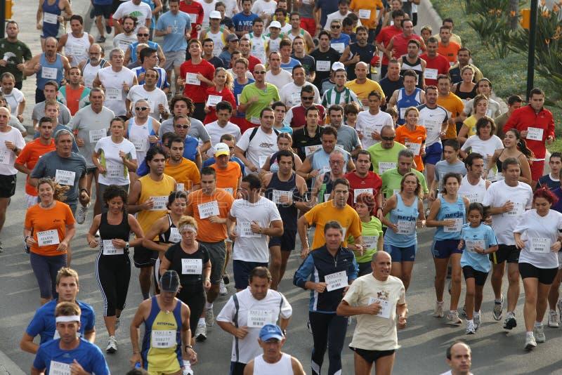Agenten van de stad van het stedelijke ras 2007 van Malaga stock foto