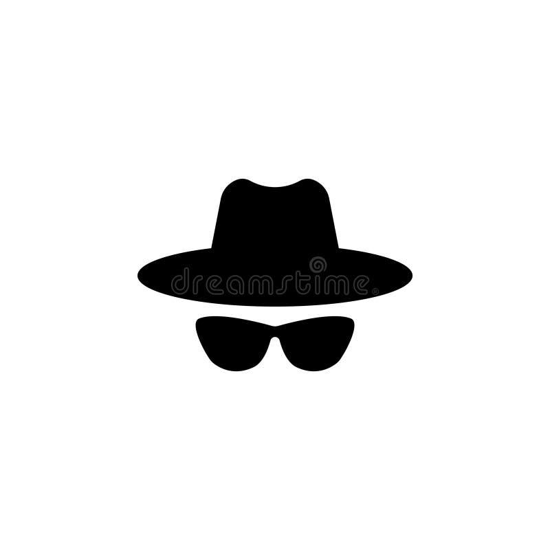 Agentenpictogram Spionzonnebril stock illustratie