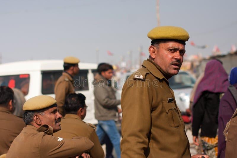 Agentes da polícia indianos fotografia de stock