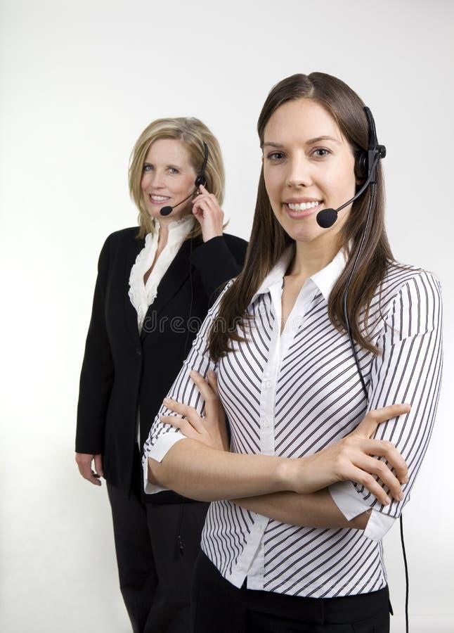 Agentes da senhora centro de chamadas imagens de stock