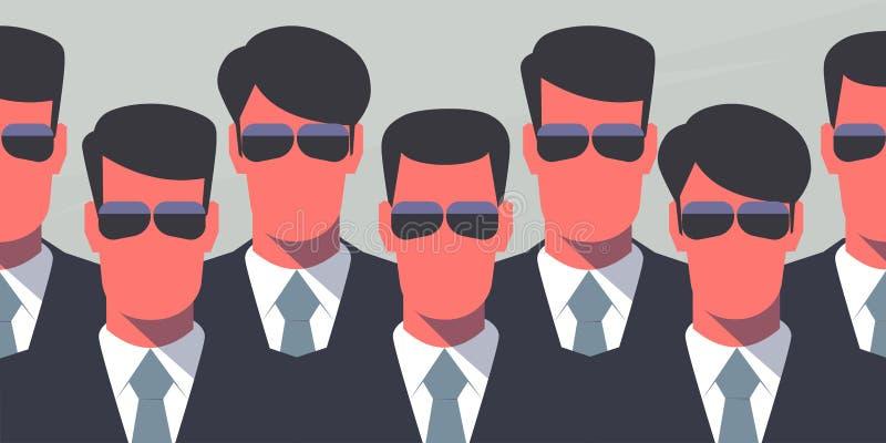 Agenti di servizio segreto royalty illustrazione gratis