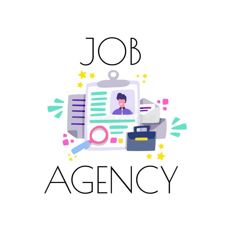 Agenzia di lavoro per i datori di lavoro ed i lavoratori Consultazione su disoccupazione Vettore del fumetto royalty illustrazione gratis