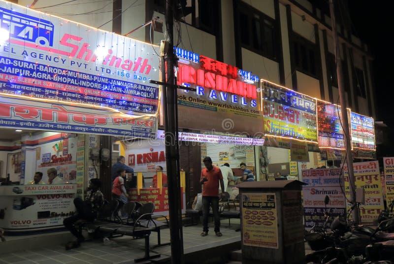 Agenzia di viaggi Udaipur India fotografia stock libera da diritti