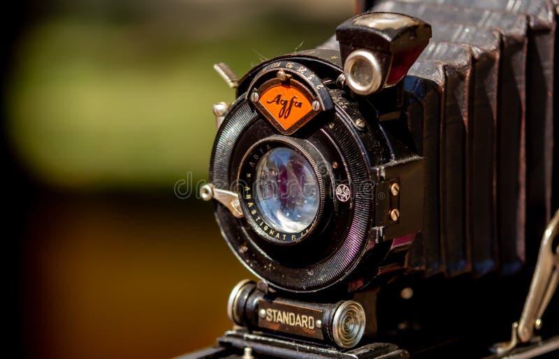 Agfa falcowania kamera - antyki uczciwi w Bucharest zdjęcie stock