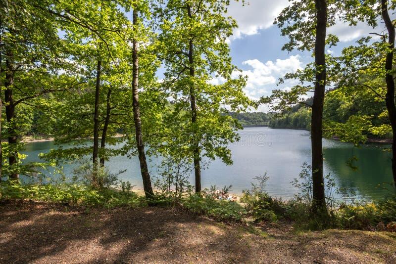 aggertal lake germany stock photography