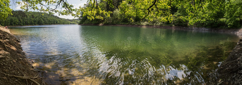 aggertalsperre υψηλό πανόραμα καθορισμού της Γερμανίας λιμνών στοκ εικόνα με δικαίωμα ελεύθερης χρήσης
