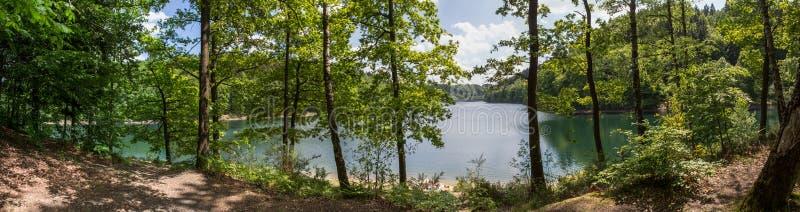 aggertalsperre υψηλό πανόραμα καθορισμού της Γερμανίας λιμνών στοκ εικόνες με δικαίωμα ελεύθερης χρήσης