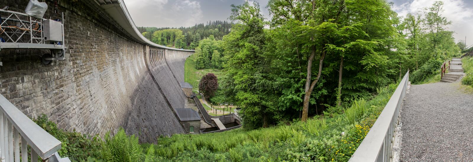 aggertalsperre dam germany high definition panorama royalty free stock photos