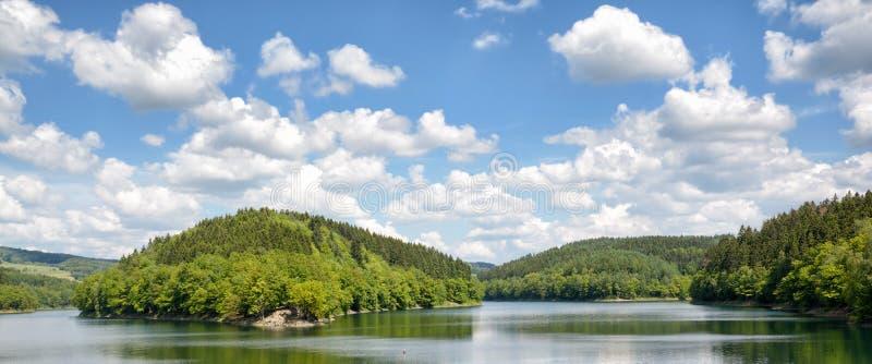 Aggertalsperre rezerwuar, Bergisches ziemia, Gerrmany zdjęcie royalty free