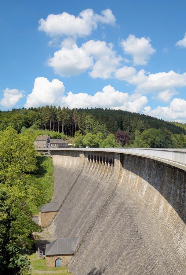Aggertalsperrereservoir, Bergisches-Land, Gerrmany royalty-vrije stock fotografie