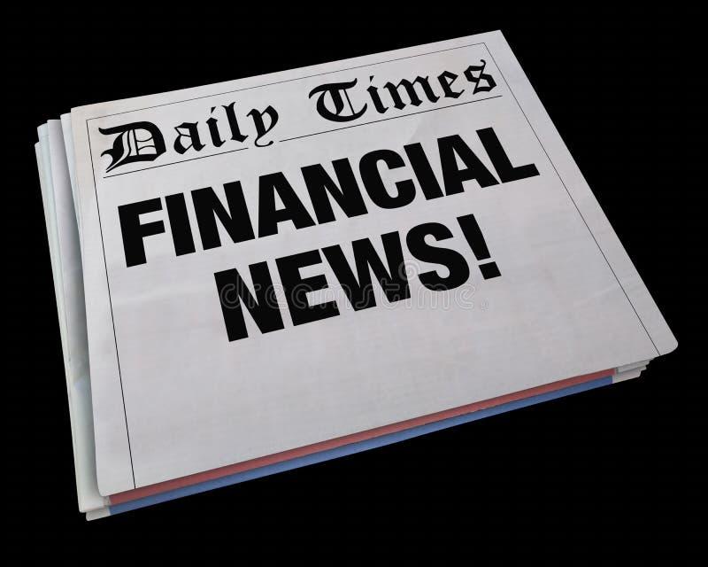 Aggiornamento 3d Illustratio del mercato azionario del titolo dei soldi di notizie finanziarie illustrazione di stock