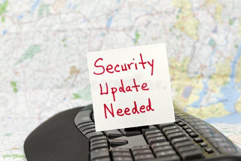 Aggiornamento di sicurezza stato necessario immagini stock