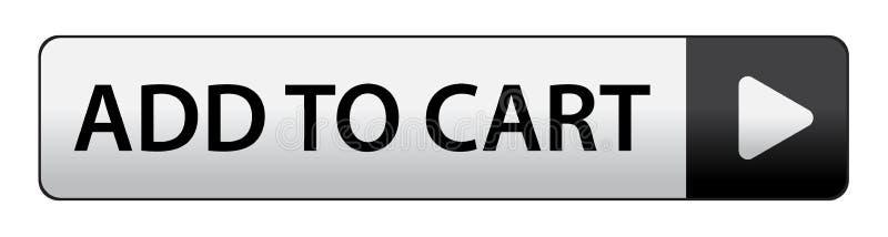 Aggiunga al tasto del carrello illustrazione di stock