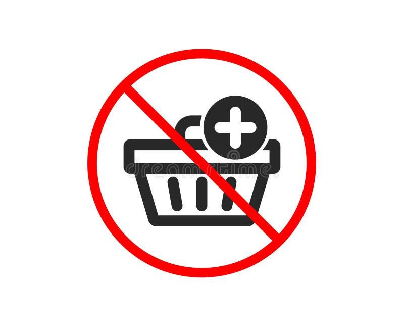 Aggiunga all'icona del carrello di acquisto Acquisto online Vettore illustrazione di stock