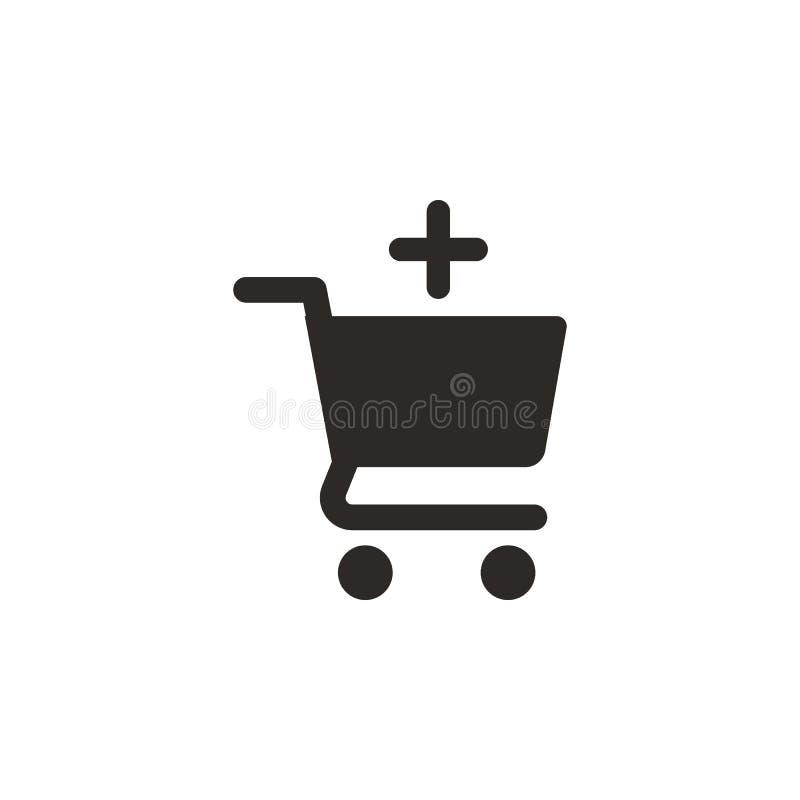 Aggiunga, compri, comperi icona di vettore Illustrazione semplice dell'elemento dal concetto di UI Aggiunga, compri, comperi icon royalty illustrazione gratis