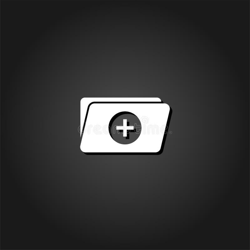 Aggiunga il piano dell'icona della cartella illustrazione di stock