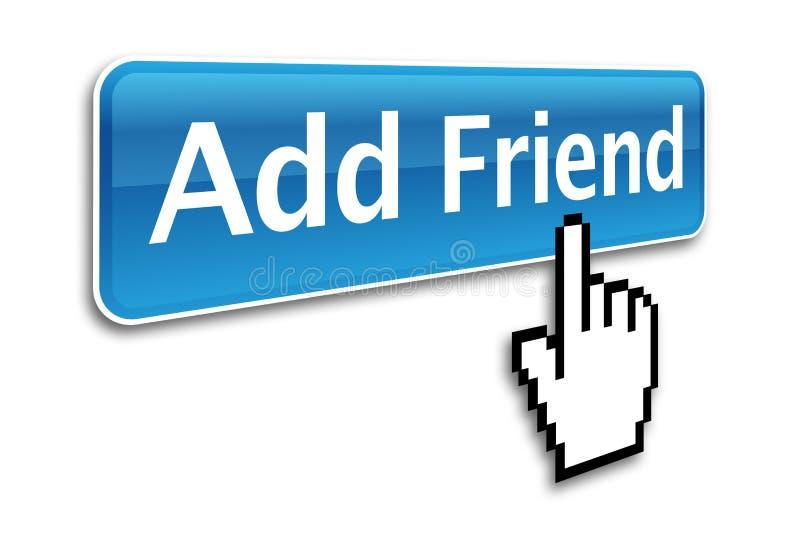 Aggiunga l'icona dell'amico illustrazione di stock