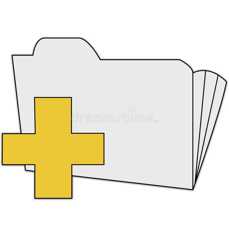 Aggiunga l'icona della directory illustrazione vettoriale
