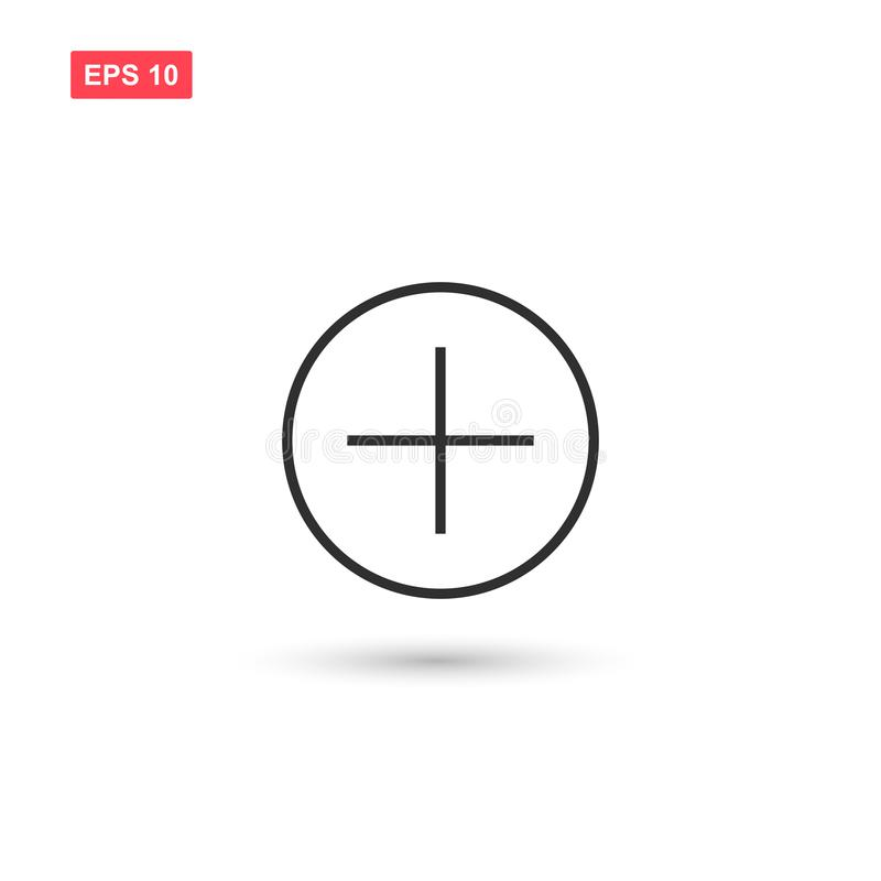Aggiunga la progettazione di vettore dell'icona del bottone ha isolato 2 illustrazione vettoriale