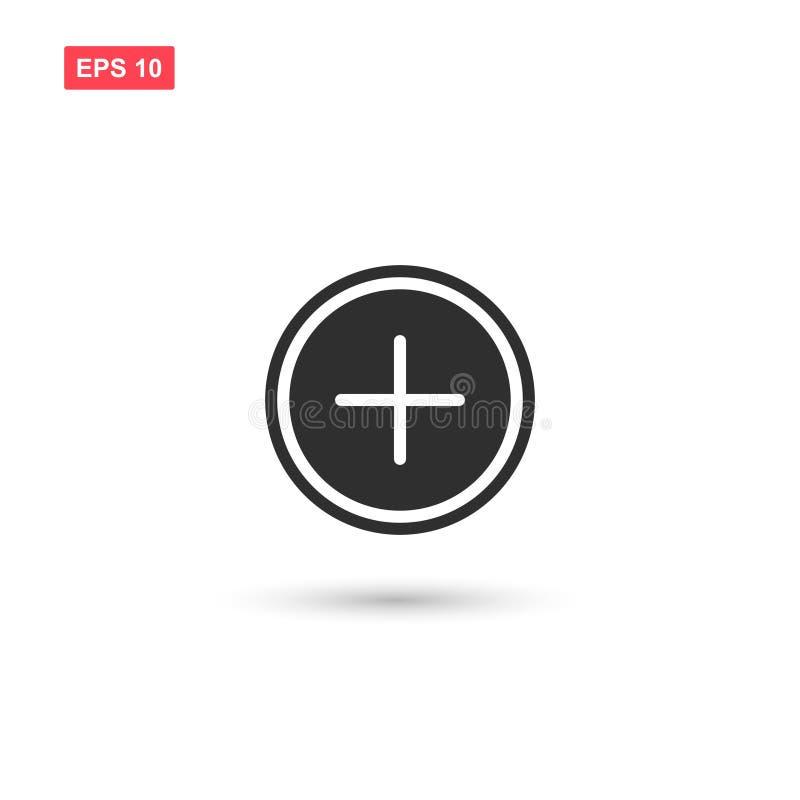 Aggiunga la progettazione di vettore dell'icona del bottone ha isolato 4 illustrazione vettoriale