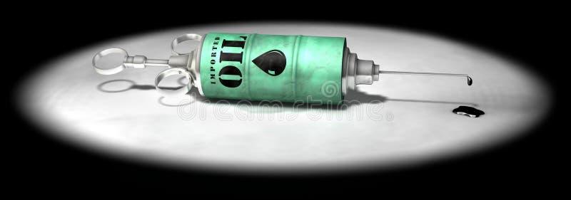 Aggiunta dell'olio illustrazione vettoriale