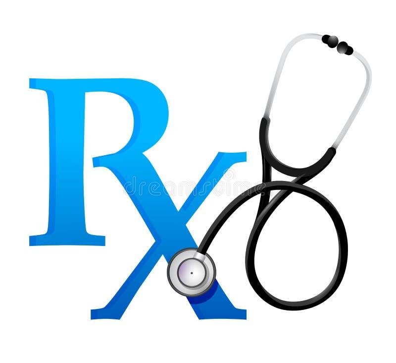 Aggiusta il simbolo con uno stetoscopio royalty illustrazione gratis