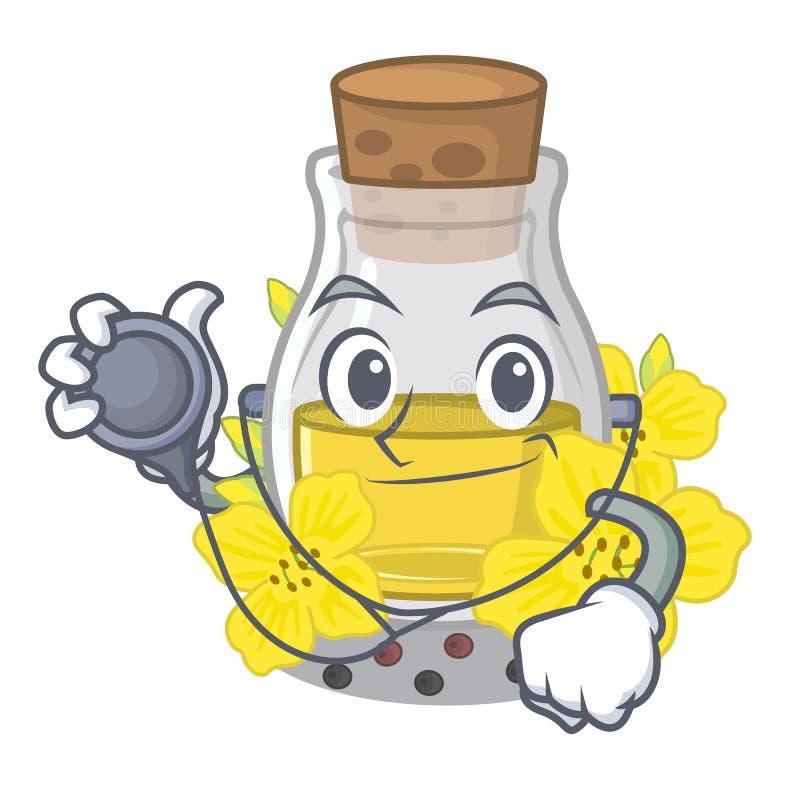 Aggiusti l'olio di semi del canola isolato in mascotte royalty illustrazione gratis
