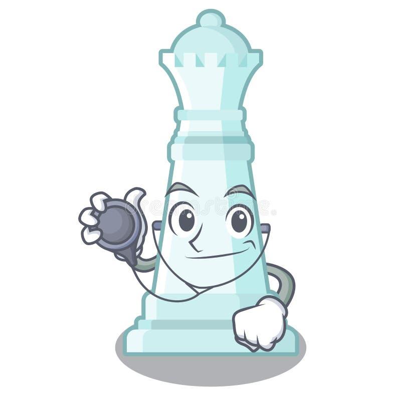 Aggiusti la regina di scacchi isolata nel carattere royalty illustrazione gratis
