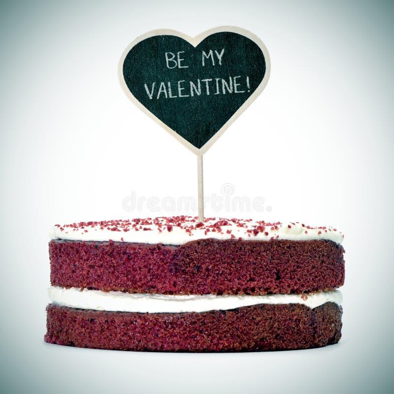 Agglutini con il testo è il mio biglietto di S. Valentino, vignetted fotografie stock