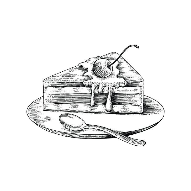 Agglutini lo stile dell'oggetto d'antiquariato del disegno della mano su fondo bianco illustrazione vettoriale