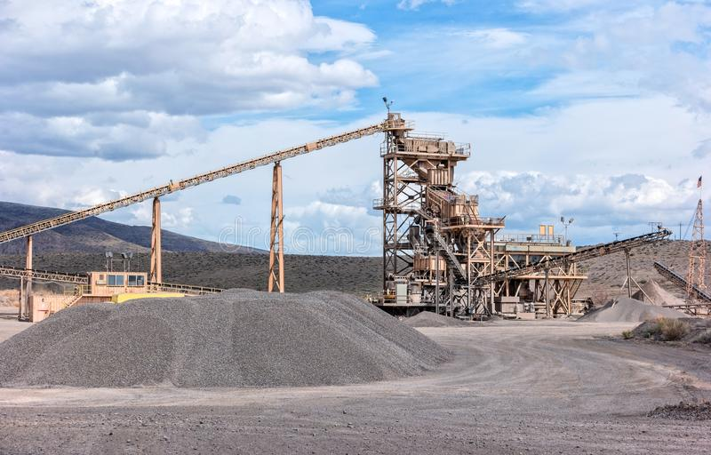 Building Sand Stone : Aggregate processing plant stock photo image of
