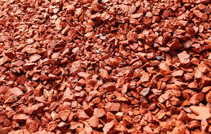 Aggregates of bricks stock photos